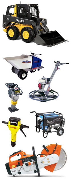 Equipment rentals at Construction Rental Inc. serving Hastings NE, Columbus NE, Lincoln NE, Grand Island Nebraska